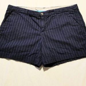 Merona size 16 navy blue cotton shorts